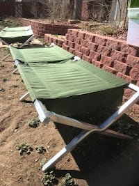 Military cot metal legs like new , both for $90