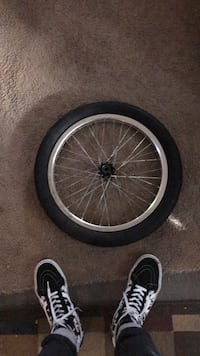 United bmx rear wheel, comes with spare tire and a front rim need gone ASAP comes with the sprocket, axle and bolts also Woodlyn, 19094