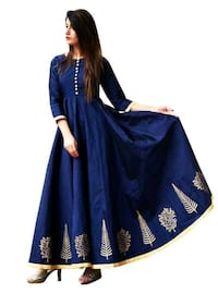 women's blue and white long-sleeved dress Ahmedabad, 380013