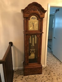 Solid oak grandfather clock