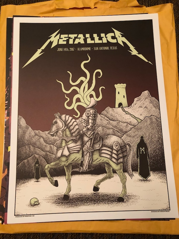 Limited Edition Metallica Concert Posters c8228773-087b-4fa5-a1e2-be42f7697919