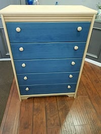 brown and blue wooden dresser Mississauga, L4T 1Z8