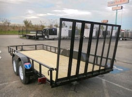 16 foot black utility trailer
