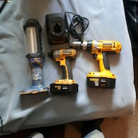 two yellow and black cordless power tools Grande Prairie, T8W 1Y1