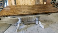 Beautiful Distressed Two Tone table  1177 mi