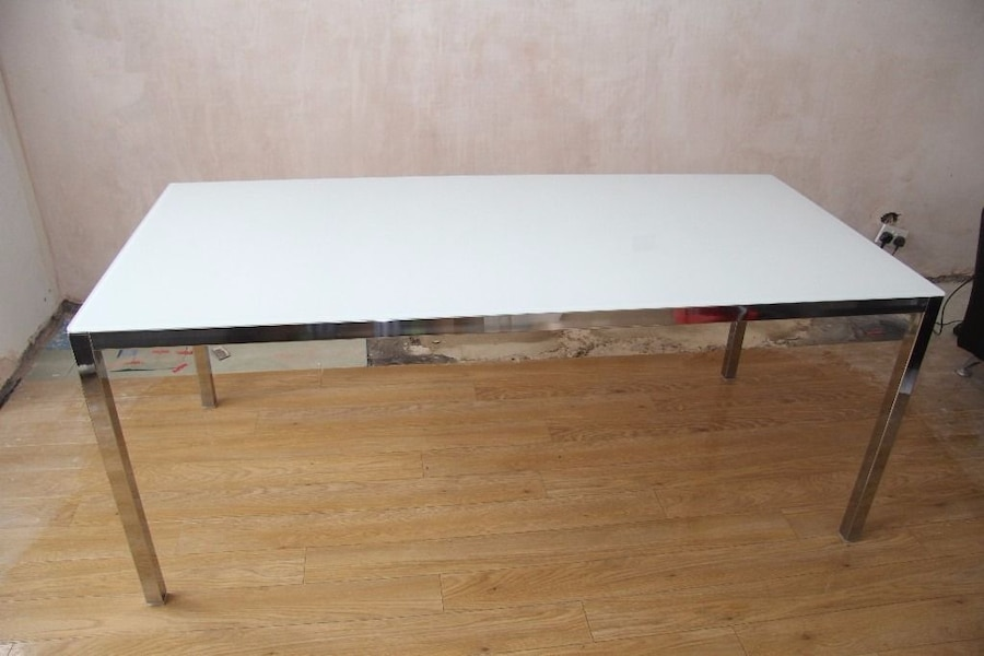 Ikea Torsby Credenza : Ikea frame glass desk top floral print table