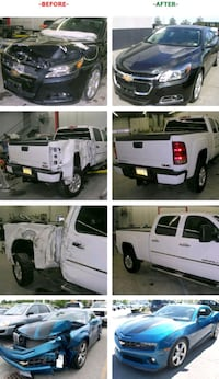 white Ford crew cab pickup truck collage Los Angeles, 90024