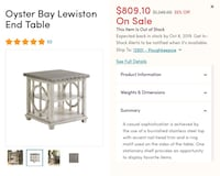 Oyster Bay - End Table Poughkeepsie, 12601