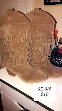 pair of brown suede fringe boots Amarillo, 79110
