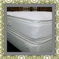 Twin mattress double pillowtop boxspring free ship Temple Hills