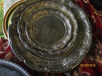 3 Silver serving trays Tulsa