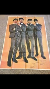 The Beatles poster 1964 giant promo poster Evans, 80620