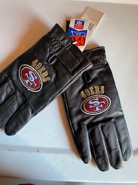 49ers Leather gloves size Large Brand New