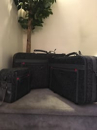 3 piece Luggage set Oscar de la Renta, gray tweed $25 for complete set Hanover Township, 18706