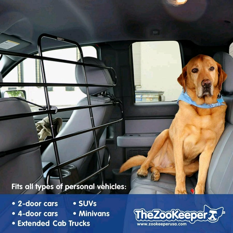 Zookeeper pet gate, travel, restraint for safety.