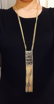 gold chain necklace chandelier