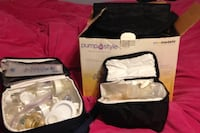 Medela  pump in style breast pump, storage bags and Avent hand pump