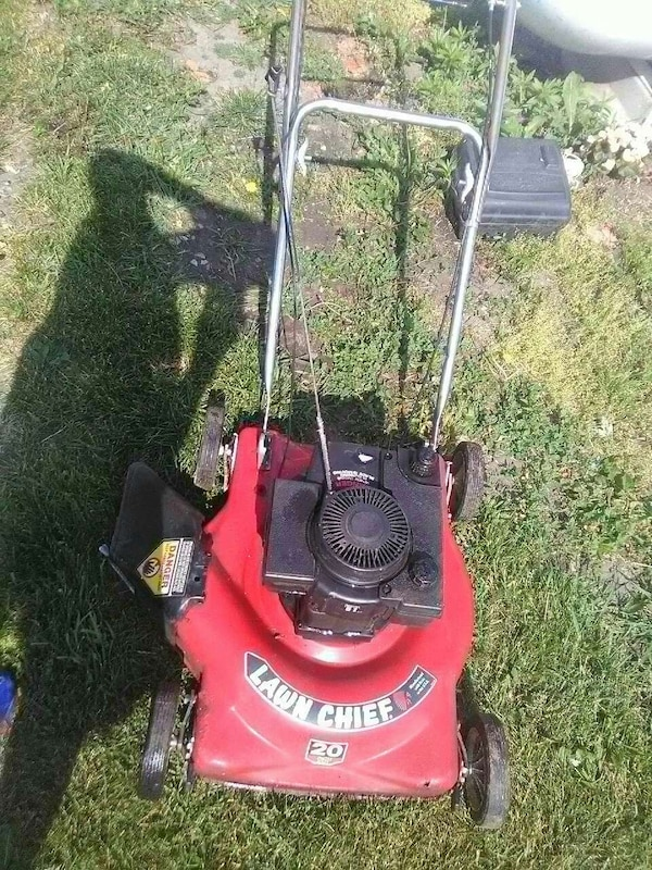 Red Lawn Chief Push Mower