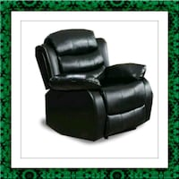 Black recliner chair free delivery McLean
