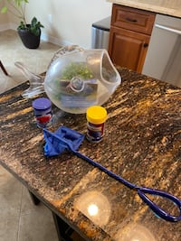 Fish bowl and accessories