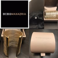 BCBG Gold Cuff with jewellery bag & gift box