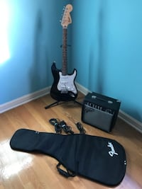 Squier Strat Electric Guitar and Amp ALEXANDRIA