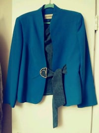 Jacket and blouse blue