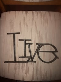 WROUGHT IRON 'LIVE' SIGN North Dumfries, N0B