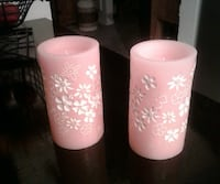 3 Pink Battery Powered Candles