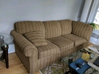 Brown fabric sectional couch Minneapolis, 55407