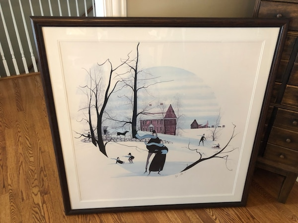 6a23c963444ea Rare P Buckley Moss numbered framed print
