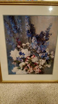 white and blue flower painting Hamilton Township, 08330