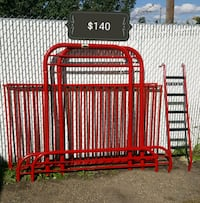 red and white metal bed frame Edmonton, T5E 3R3