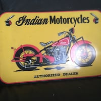 Indian motor cycle tin sign11by16 Las Vegas, 89130