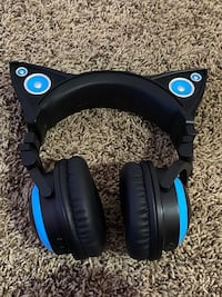 Cat neon light up head phones. Needs to charge but works perfectly.