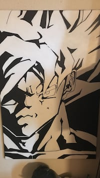 Black and white Goku hand painted by me  Houston, 77047