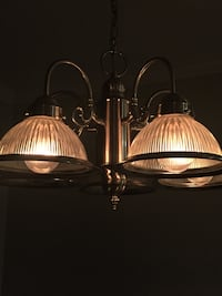two brown and white pendant lamps Spring Hill, 37174