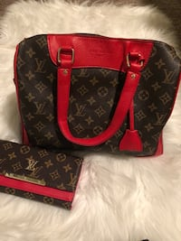 black and red Louis Vuitton leather tote bag Louisville, 40245