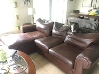 Genuine Leather sectional Davenport, 33837