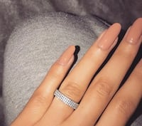White sapphire band size 6 and 8