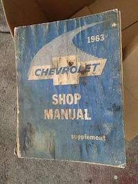 1963 chevrolet Shop Manual  2395 mi