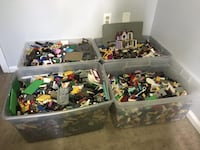 assorted plastic toys in box Mount Airy, 21771