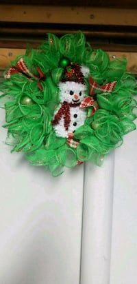 11 Inch Green holiday wreath with Snowman  Maryland, 20746