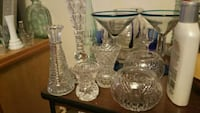 clear cut glass pitcher and drinking glasses Los Angeles, 90003