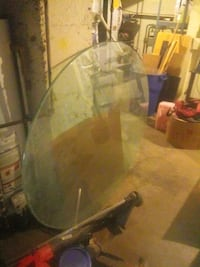 """Oval Beveled Glass Table Top 80"""" x 52"""""""