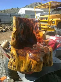 brown and beige wooden chair