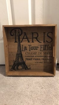 Wood art Paris decorative tray Silver Spring, 20901