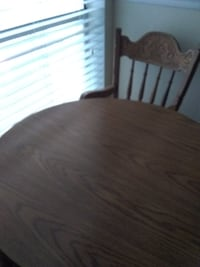 Children's Cherry Oak Table and 2 Chairs set