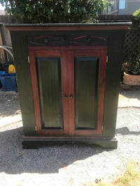 Pine  cabinet with two drawers and two doors North Vancouver, V7M 1Z5