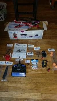 blue and black helicopter toy with  RC remote New Jersey, 07438